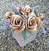 Dekorácie - Box so saténových kvetov E - 11570204_