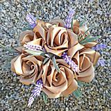 Dekorácie - Box so saténových kvetov E - 11570208_