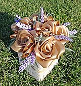 Dekorácie - Box so saténových kvetov E - 11570211_