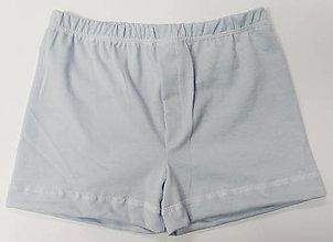 Detské oblečenie - Modrásky 3 ks chlapčenských treniek biobavlna - 11570262_