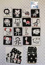 Kontrastné pexeso čierno-biela - Zvieratka 8 párov - 16 ks