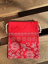 Úžitkový textil - vrecúško červené - 11569084_