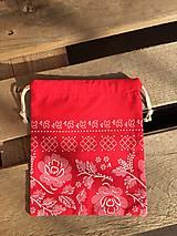Úžitkový textil - vrecúško červené - 11569087_
