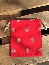 Úžitkový textil - vrecúško červené 2 - 11569099_