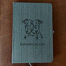 Papiernictvo - Zápisník Americký stafordširský teriér - 11569662_