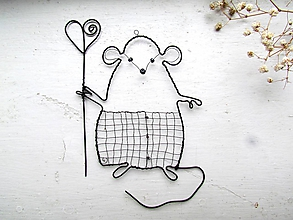 Dekorácie - Myšiak mierumilovný - 11569897_