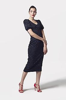 Šaty - Šaty Midi s riasenými rukávmi - 11573246_