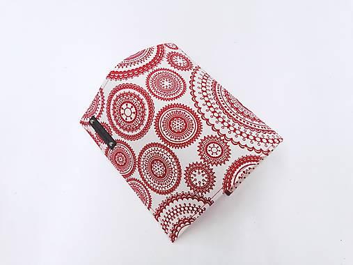 Peňaženka červené mandaly
