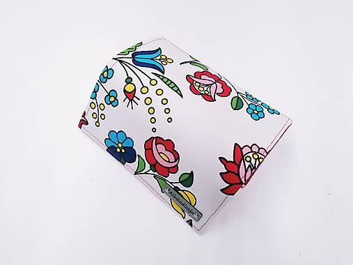 Priehradková peňaženka z ekokože + maľované kvety