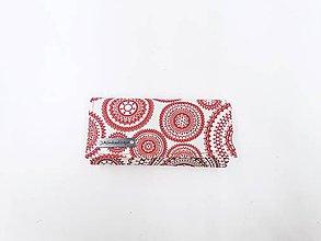 Peňaženky - Peňaženka červené mandaly - 11576553_