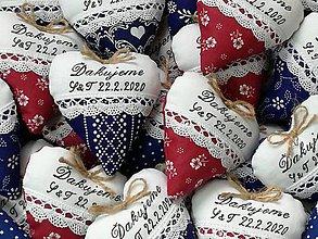 Darčeky pre svadobčanov - Svadobné srdiečka na želanie - 11576407_