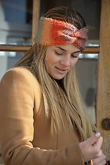 Ozdoby do vlasov - čelenka  melír do oranžová - 11573199_