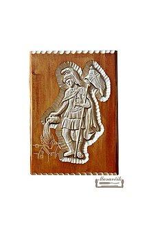 Obrazy - Drevorezba - sv. Florián patrón hasičov a záchranárov - 11574528_