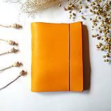 """Papiernictvo - Zápisník kožený ,,Sunny"""" horčicovožltá A5 - 11574014_"""
