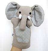 Hračky - Maňuška slon - Sloník od Srdiečkovej zátoky - 11574835_