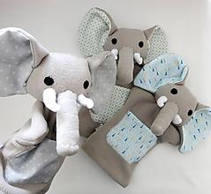 Hračky - Maňuška slon - na objednávku - 11574695_
