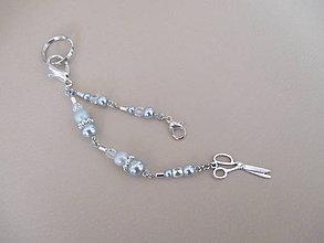Kľúčenky - Kľúčenka alebo dekorácia na kabelku - nožnice - bižutérny kov - 11574331_