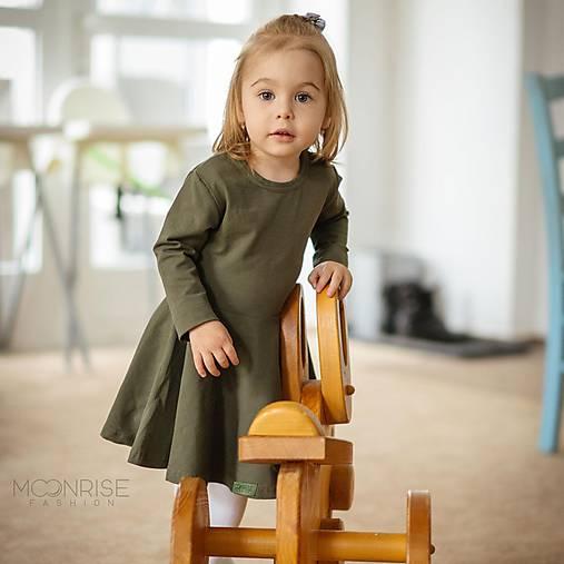 Detské oblečenie - Šaty - khaki dlhý rukáv (98) - 11575192_