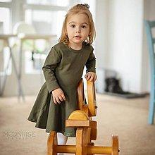 Detské oblečenie - Šaty - khaki dlhý rukáv - 11575192_