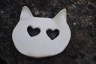 Nádoby - Keramická mydlenička mačka - 11576163_