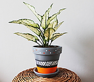 Nádoby - Terakotový kvetináč - Greyorange - 11575976_
