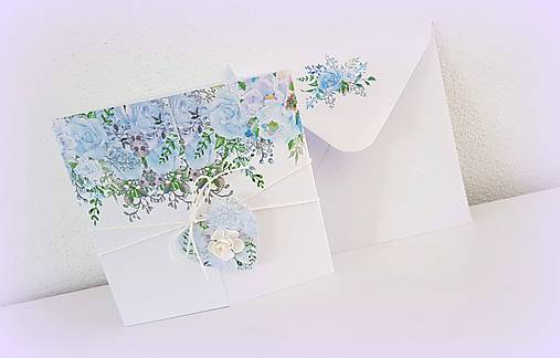 """Svadobné oznámenie """"Blue bouquets"""""""