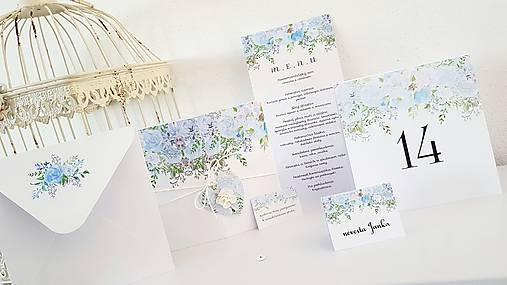 """Svadobné menu """"Blue bouquets"""""""