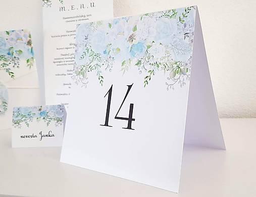 """Čísla na stôl """"Blue bouquets"""""""