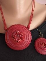 Náhrdelníky - Červený náhrdelník - 11575181_
