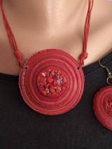 Náhrdelníky - Červený náhrdelník - 11575183_