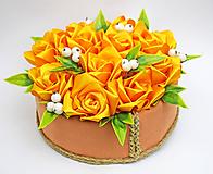 Dekorácie - Box so saténových kvetov B - 11573914_