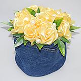 Dekorácie - Box so saténových kvetov C - 11574546_