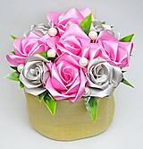 Dekorácie - Box so saténových kvetov D - 11574549_