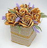 Dekorácie - Box so saténových kvetov E - 11574557_