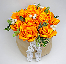 Dekorácie - Box so saténových kvetov A - 11573907_