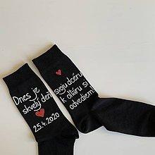 Obuv - Maľované ponožky pre (otca nevesty) - 11576856_