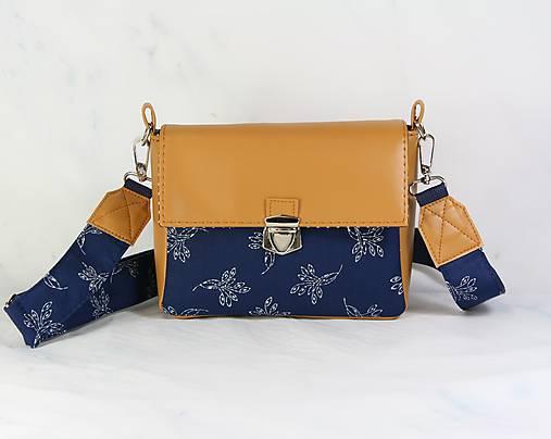kabelka Táňa modrotlačová medová1