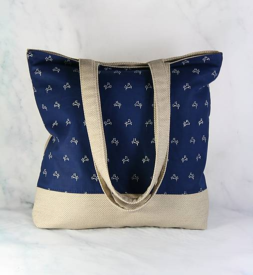 Modrotlačová nákupná taška 1