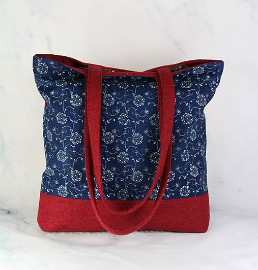 Modrotlačová nákupná taška 2