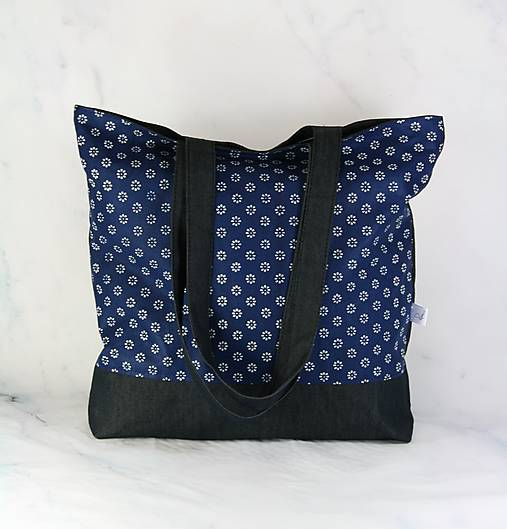 Modrotlačová nákupná taška 3