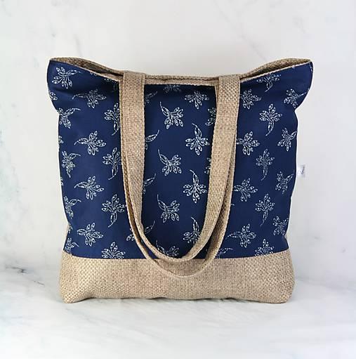 Modrotlačová nákupná taška 4