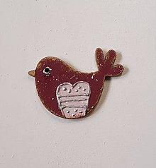 Odznaky/Brošne - brošňa jarné vtáča 1 - 11573504_