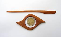 Odznaky/Brošne - Drevená ihlica na šál - jelšová - 11575626_