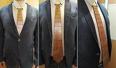 Doplnky - Drevená kravata pre pánov ORECH - 11573506_
