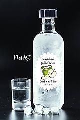 Nálepky na svadobné fľaše jablko