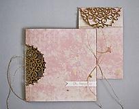 Papiernictvo - Gratulačná súprava ornament - pozdrav + obálka na peniaze - 11579591_
