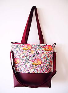 Veľké tašky - Veľká taška - folk s vínovou I - 11580462_