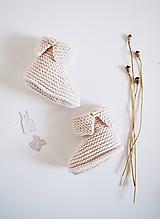 Topánočky - Papučky pre bábätko - ružové - 11579236_