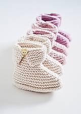 Topánočky - Papučky pre bábätko - ružové - 11579259_