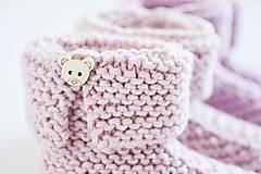 Topánočky - Papučky pre bábätko - ružové - 11579261_